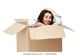 smiling-girl-sitting-cardboard-box-260nw-81821005
